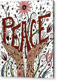 Peace Acrylic Print by Valerie Lorimer