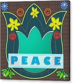 Peace War Political Social Economic Poverty Terrorism Justice Background Designs  And Color Tones N  Acrylic Print by Navin Joshi