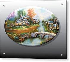 Peaceful Alpine Village 2 Acrylic Print