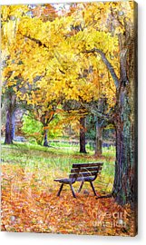 Peaceful Autumn Acrylic Print by Darren Fisher