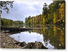 Peaceful Autumn Lake Acrylic Print by Christina Rollo