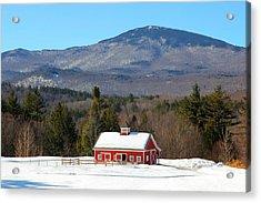 Acrylic Print featuring the photograph Peaceful Barn by Larry Landolfi