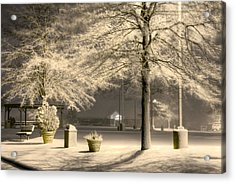 Peaceful Blizzard Acrylic Print by JC Findley