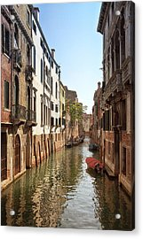 Peaceful Canal Acrylic Print by Kim Andelkovic