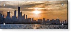 Peaceful Chicago Acrylic Print by John Hansen