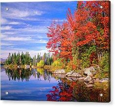 Peaceful Colorful Autumn Fall Foliage Acrylic Print