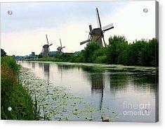 Peaceful Dutch Canal Acrylic Print by Carol Groenen