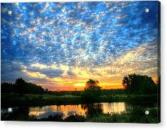Peaceful East Texas Morning Sunrise Acrylic Print by Lorri Crossno
