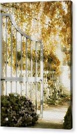Peaceful English Garden Acrylic Print