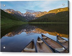 Peaceful Evening In The Rockies Acrylic Print by Aaron Spong