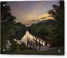 Peaceful Evening  Acrylic Print by Yelena Rozov
