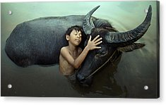 Peaceful Acrylic Print by Fahmi Bhs