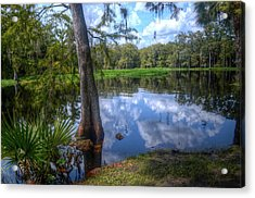 Peaceful Florida Acrylic Print by Timothy Lowry