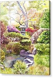 Peaceful Garden Acrylic Print by Irina Sztukowski