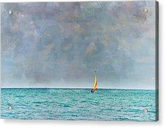 Peaceful Getaway Acrylic Print by Kathy Jennings