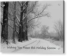 Peaceful Holiday Card Acrylic Print by Carol Groenen