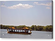 Peaceful Lake Acrylic Print by Judith Russell-Tooth