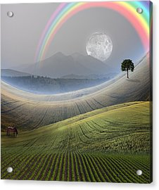 Acrylic Print featuring the digital art Peaceful Landscape  by Bruce Rolff