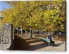 Peaceful Lunch In On Theterrace Of Collegiale De Neuchatel Acrylic Print