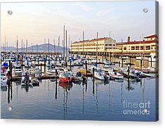 Acrylic Print featuring the photograph Peaceful Marina by Kate Brown