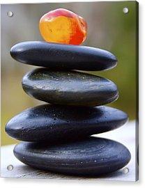 Peaceful Meditation Rocks Acrylic Print by Jennifer Lamanca Kaufman