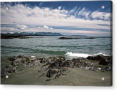 Peaceful Pacific Beach Acrylic Print by Richard Farrington
