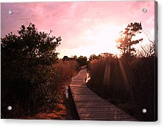 Acrylic Print featuring the photograph Peaceful Path by Karen Silvestri