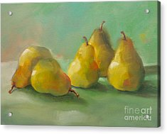 Peaceful Pears Acrylic Print by Michelle Abrams