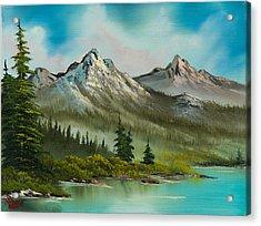 Peaceful Pines Acrylic Print by C Steele