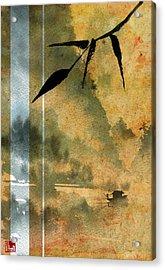 Peaceful River Design Acrylic Print by Sean Seal