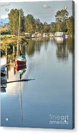 Peaceful River View Acrylic Print by Malu Couttolenc