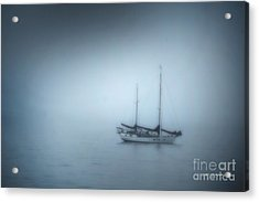 Peaceful Sailboat On A Foggy Morning From The Book My Ocean Acrylic Print