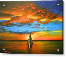 Peaceful Sailing Acrylic Print