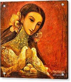 Peaceful Acrylic Print by Shijun Munns