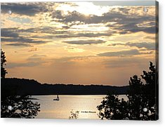 Acrylic Print featuring the digital art Peaceful Sunset by Lorna Rogers Photography