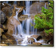 Acrylic Print featuring the photograph Peaceful Waterfall by Jordan Blackstone