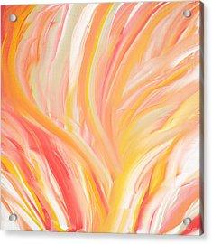 Peach Flare Acrylic Print by Lourry Legarde