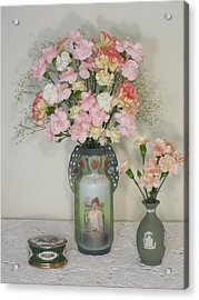 Peach Flowers And Others Acrylic Print