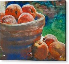 Peach Fuzz Acrylic Print by Jani Freimann