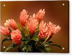 Peach Gibger Blossoms Acrylic Print
