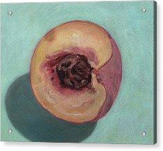 Peach Half Acrylic Print