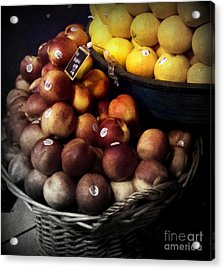 Peaches And Lemons Antique Acrylic Print by Miriam Danar