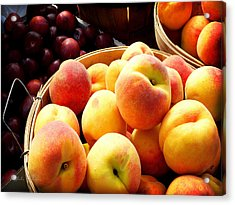 Peaches And Plums Farmers Market Acrylic Print by Julie Palencia