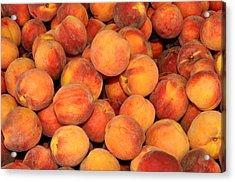 Peaches Acrylic Print by Diane Lent