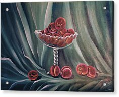 Peaches Acrylic Print by Florentina Popa