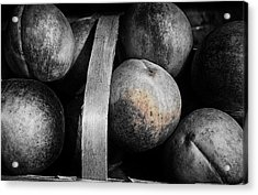 Peaches In A Basket Acrylic Print by William Jones