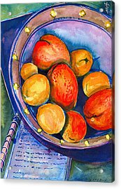 Peaches Acrylic Print by Ion vincent DAnu