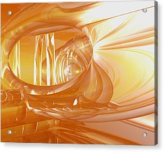 Peaches N' Cream Acrylic Print by Joshua Thompson
