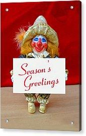 Peaches - Season's Greetings Acrylic Print by David Wiles