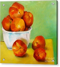 Peachy Keen Acrylic Print by Michelle Abrams